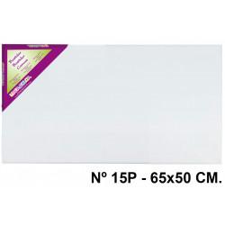 Bastidor con lienzo de tela 100% de algodón liderpapel lidercolor en formato 65x50 cm. nº 15p.
