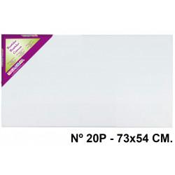 Bastidor con lienzo de tela 100% de algodón liderpapel lidercolor en formato 73x54 cm. nº 20p.