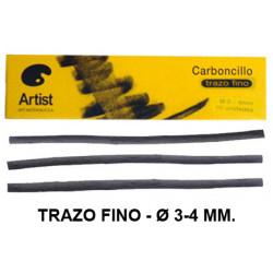 Carboncillo natural artist trazo fino de Ø 3-4 mm. caja de 10 uds.