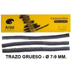Carboncillo natural artist trazo grueso de Ø 7-9 mm. caja de 3 uds.