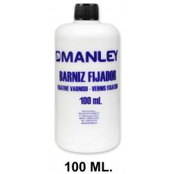 Barniz fijador manley, bote de 100 ml.