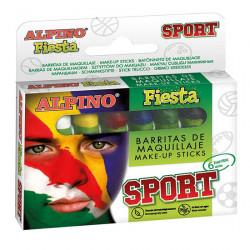 Barra de maquillaje alpino sport de 5 grs. colores surtidos, estuche de 6 uds.