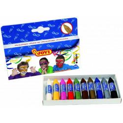 Barra de maquillaje jovi de 5,6 grs. colores surtidos, estuche de 10 uds.