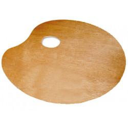 Paleta de madera liderpapel lidercolor ovalada especial para zurdos en formato 200x300x3 mm.