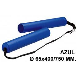 Tubo portaplanos extensible en plástico con bandolera faibo en formato Ø 65x400/750 mm. color azul.