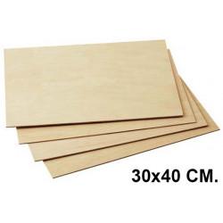 Tabla de marqueteria en formato de 30x40 cm.