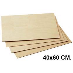 Tabla de marqueteria en formato de 40x60 cm.