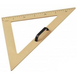 Escuadra para encerado faibo de plástico imitación madera formato 50 cm.
