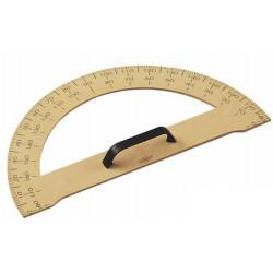 Semicirculo para encerado faibo de plástico imitación madera formato 34 cm.