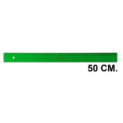 Regla faber-castell serie técnica 50 cm. verde transparente.