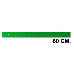 Regla faber-castell serie técnica 60 cm. verde transparente.