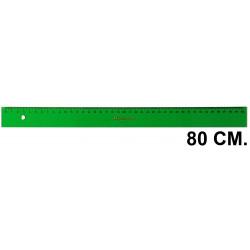 Regla faber-castell serie técnica 80 cm. verde transparente.