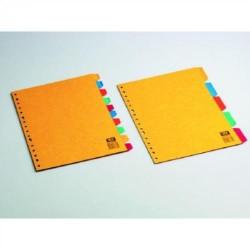 Separador con multitaladro en cartulina símil-presspan de 10 posiciones para formatos en din a-4/folio.