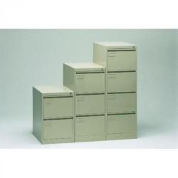 Muebles metalicos de archivo 2 cajones gris