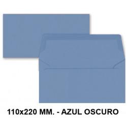 Sobre de color liderpapel en formato 110x220 mm. offset, 80 grs/m². color azul oscuro, pack de 9 uds.