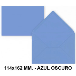 Sobre de color liderpapel en formato 114x162 mm. offset, 80 grs/m². color azul oscuro, pack de 15 uds.
