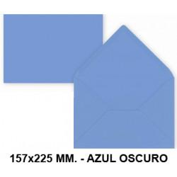 Sobre de color liderpapel en formato 157x225 mm. offset, 80 grs/m². color azul oscuro, pack de 15 uds.