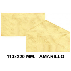 Sobre de color michel en formato 110x220 mm. marmoleado, 90 grs/m². color amarillo, paquete de 25 uds.