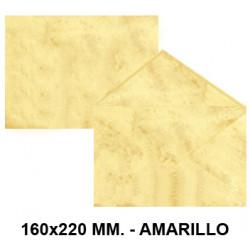 Sobre de color michel en formato 160x220 mm. marmoleado, 90 grs/m². color amarillo, paquete de 25 uds.