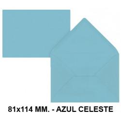 Sobre de color liderpapel en formato 81x114 mm. offset, 80 grs/m². color azul celeste, pack de 12 uds.