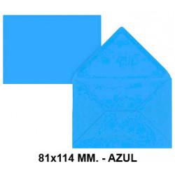 Sobre de color liderpapel en formato 81x114 mm. offset, 80 grs/m². color azul, pack de 12 uds.