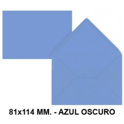 Sobre de color liderpapel en formato 81x114 mm. offset, 80 grs/m². color azul oscuro, pack de 12 uds.