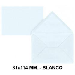 Sobre de color liderpapel en formato 81x114 mm. offset, 80 grs/m². color blanco, pack de 12 uds.