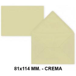 Sobre de color liderpapel en formato 81x114 mm. offset, 80 grs/m². color crema, pack de 12 uds.