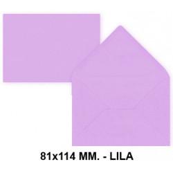 Sobre de color liderpapel en formato 81x114 mm. offset, 80 grs/m². color lila, pack de 12 uds.