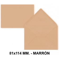 Sobre de color liderpapel en formato 81x114 mm. offset, 80 grs/m². color marrón, pack de 12 uds.