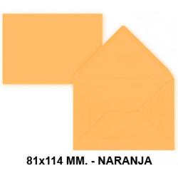 Sobre de color liderpapel en formato 81x114 mm. offset, 80 grs/m². color naranja, pack de 12 uds.