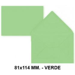 Sobre de color liderpapel en formato 81x114 mm. offset, 80 grs/m². color verde, pack de 12 uds.