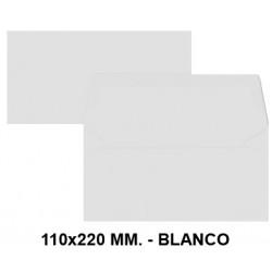 Sobre de color liderpapel en formato 110x220 mm. offset, 80 grs/m². color blanco, pack de 9 uds.