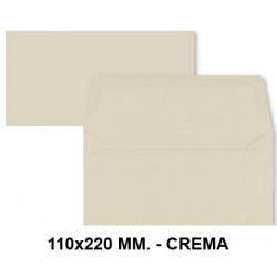 Sobre de color liderpapel en formato 110x220 mm. offset, 80 grs/m². color crema, pack de 9 uds.
