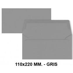 Sobre de color liderpapel en formato 110x220 mm. offset, 80 grs/m². color gris, pack de 9 uds.