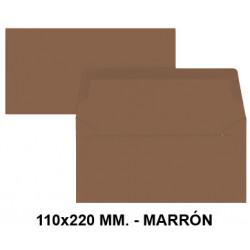 Sobre de color liderpapel en formato 110x220 mm. offset, 80 grs/m². color marrón, pack de 9 uds.