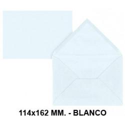 Sobre de color liderpapel en formato 114x162 mm. offset, 80 grs/m². color blanco, pack de 15 uds.