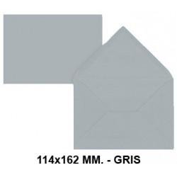 Sobre de color liderpapel en formato 114x162 mm. offset, 80 grs/m². color gris, pack de 15 uds.