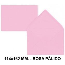 Sobre de color liderpapel en formato 114x162 mm. offset, 80 grs/m². color rosa pálido, pack de 15 uds.