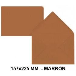 Sobre de color liderpapel en formato 157x225 mm. offset, 80 grs/m². color marrón, pack de 9 uds.