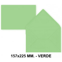 Sobre de color liderpapel en formato 157x225 mm. offset, 80 grs/m². color verde, pack de 9 uds.