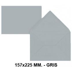 Sobre de color liderpapel en formato 157x225 mm. offset, 80 grs/m². color gris, pack de 9 uds.