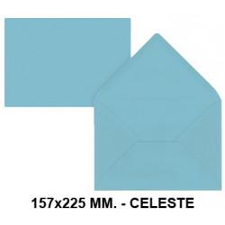Sobre de color liderpapel en formato 157x225 mm. offset, 80 grs/m². color celeste, pack de 9 uds.