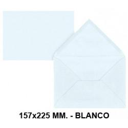 Sobre de color liderpapel en formato 157x225 mm. offset, 80 grs/m². color blanco, pack de 9 uds.