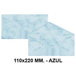 Sobre de color michel en formato 110x220 mm. marmoleado, 90 grs/m². color azul, paquete de 25 uds.