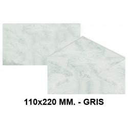 Sobre de color michel en formato 110x220 mm. marmoleado, 90 grs/m². color gris, paquete de 25 uds.