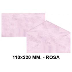 Sobre de color michel en formato 110x220 mm. marmoleado, 90 grs/m². color rosa, paquete de 25 uds.