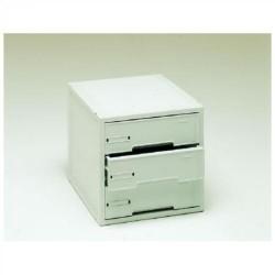 Buck organitec 400 serie 20 3 cajones g 303x316x356 mm. en color gris.
