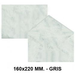 Sobre de color michel en formato 160x220 mm. marmoleado, 90 grs/m². color gris, paquete de 25 uds.