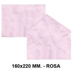 Sobre de color michel en formato 160x220 mm. marmoleado, 90 grs/m². color rosa, paquete de 25 uds.